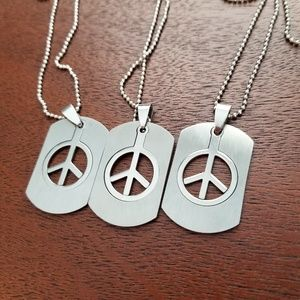 3 Pack BFF Friendship Peace Necklace